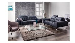 Saporini Dhalma Leather 3 Seater Sofa