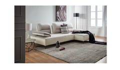 Adella Fabric & Leather 2 Seater Sofa