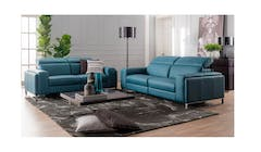 Cuborosso Roby Leather 3 Seater With Electric