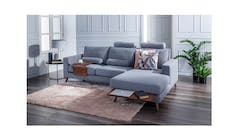 Ebony Fabric 2 Seater + RHF Sofa