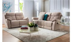 Lazio Fabric 3 Seater Manual Recliner