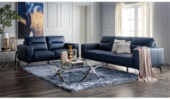 Merlini Full Leather 3 + 2 Seater Sofa