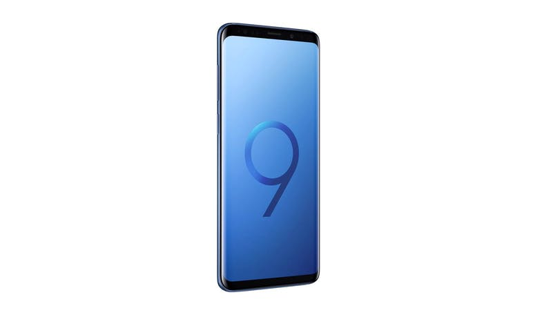 Samsung Galaxy S9+ 64GB Smartphone - Coral Blue (Demo unit) - Left