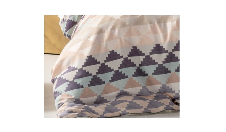 Linen House La Paz Queen Quilt Cover Set - Aqua