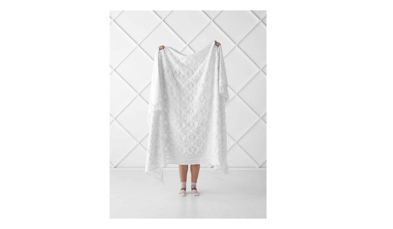 Linen House Somers Throw - White