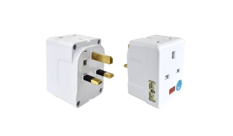 Eurosafe 2 Port 13A 3 Way Adaptor - White