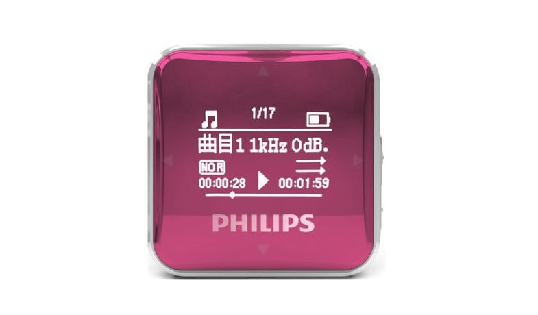 Philips SA2208 MP3 Music Player - Red (Front)