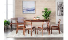 Coco 1 + 4 Pieces + Bench Dining Set