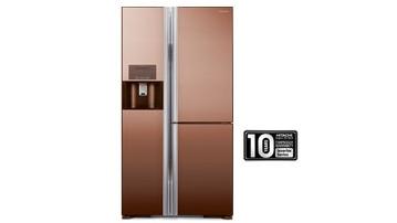 Hitachi R-M810GP2MXMBW 651L Side By Side 3-Door Refrigerator
