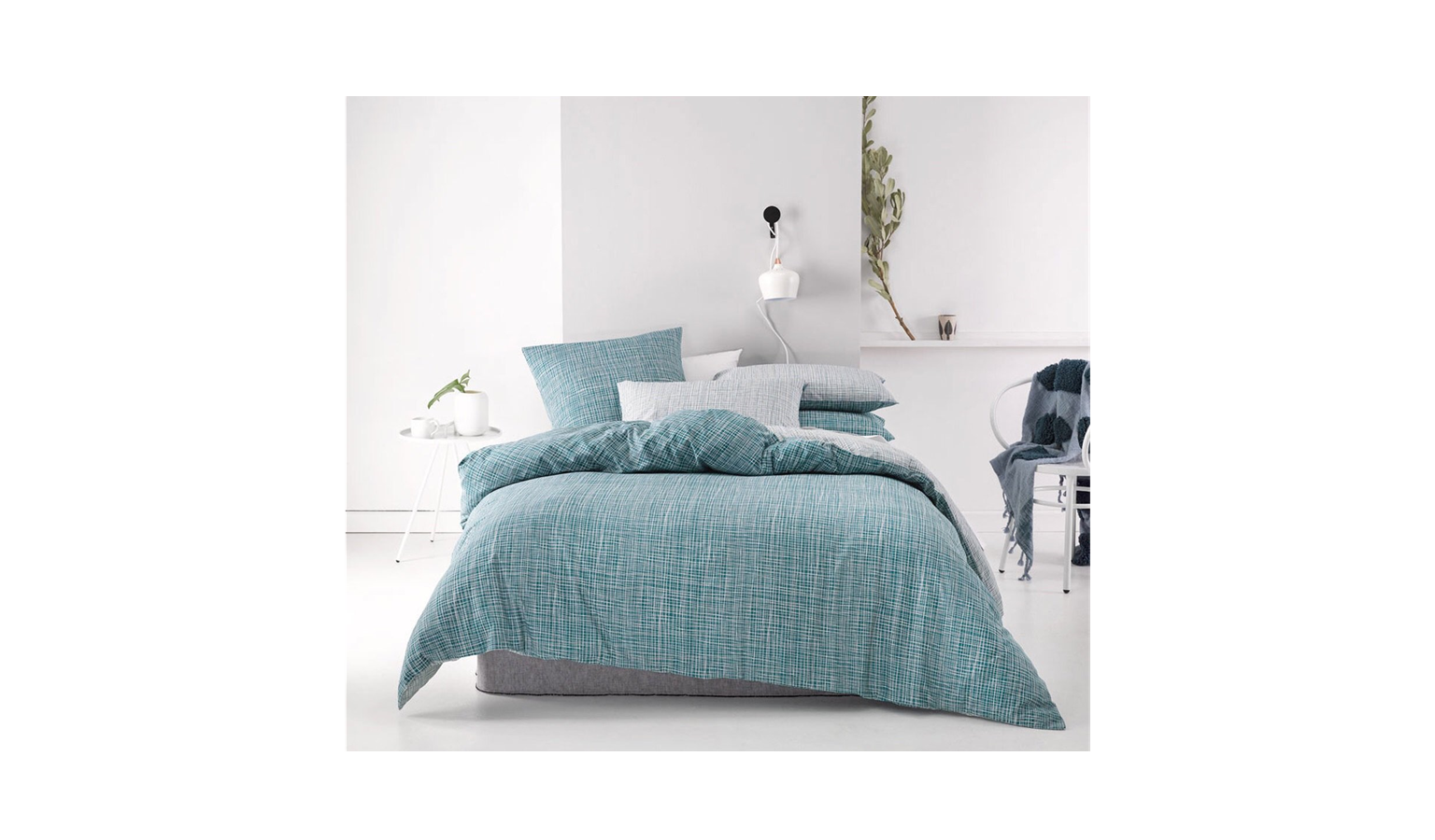 Linen House Meiko King Quilt Cover Set Teal Harvey Norman Malaysia