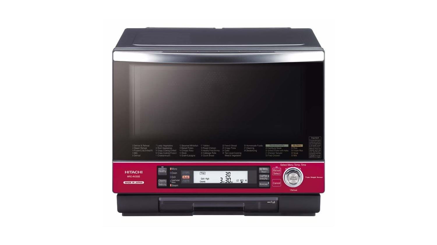 Hitachi 33l Made In An Microwave Oven Pearl Red