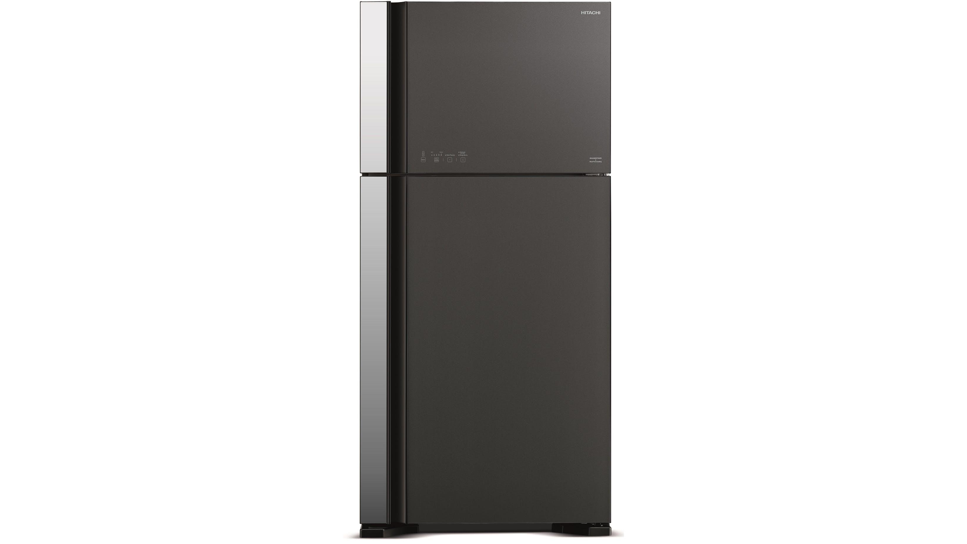 Hitachi 550l 2 door top freezer refrigerator black for 1 door fridge malaysia