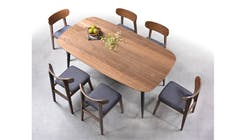 Montana 5ft Rectangle Dining Table with 6 Dining Chairs (IMG 1)