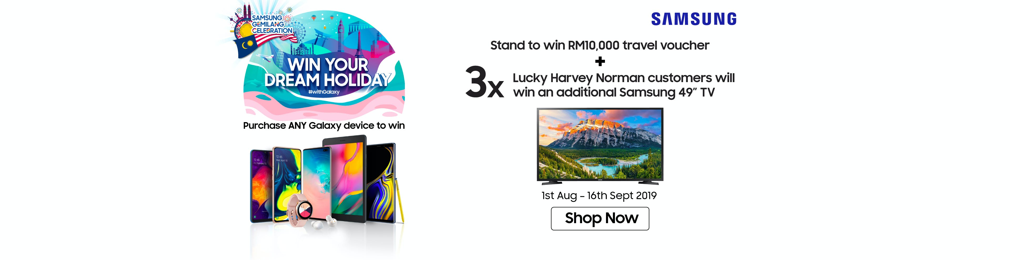 Samsung Merdeka Win Your Dream Holiday